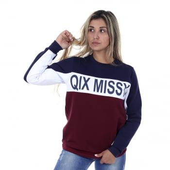 Moletom Careca Feminino Qix Missy