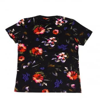 Camiseta Feminina Print Qix Missy Full Flowers