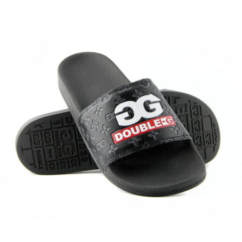 CHINELO SLIDE DOUBLE-G LOGO ESTAMPADO