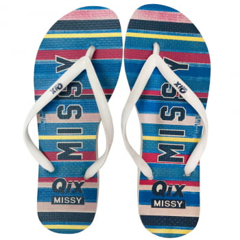 CHINELO FLIPFLOP MISSY COLORED STRIPES