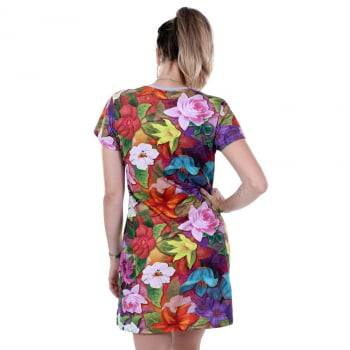 VESTIDO TEE DRESS QIX MISSY SPECIAL FLOWER POWER