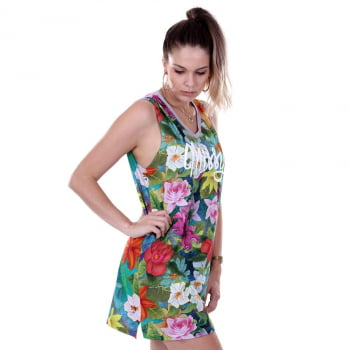 VESTIDO TEE DRESS REGATA QIX MISSY SPECIAL FLOWERS