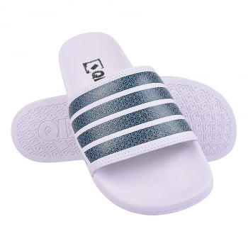 CHINELO SLIDE QIX PATTERNED STRIPES