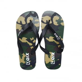 Chinelo FlipFlop Qix Camouflaged Army